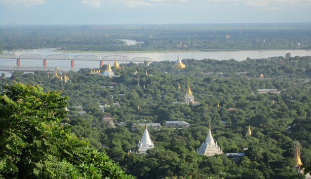 Overview of Mandalay from Sagaing hill
