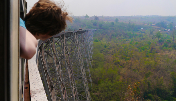 gokteik viaduct - Train from Pyin Oo Lwin to Hsipaw